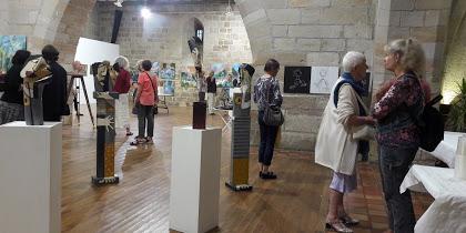 art contemporain peinture sculpture couleurs lumiere formes exposition figeac lot