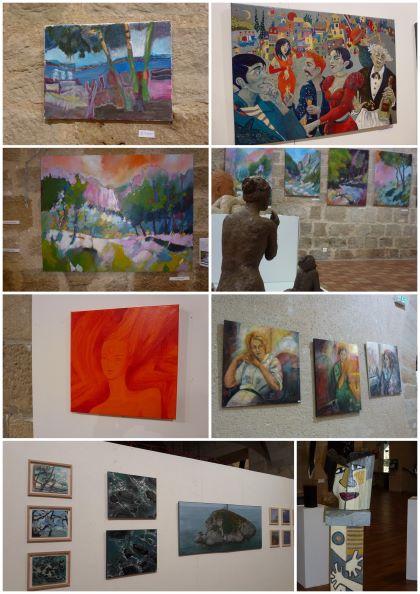 art contemporain figeac salle balene art peinture couleur collectif femmes