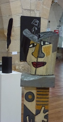art contemporain lot exposition figeac balene peinture sculpture creativite originalite
