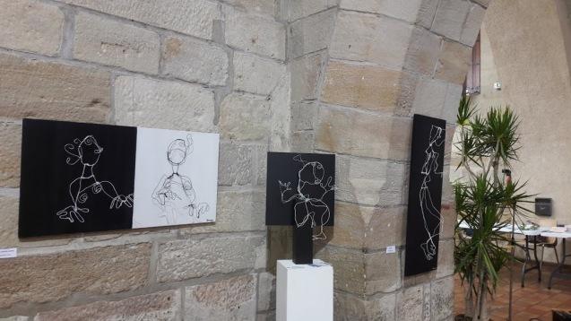 plurielles vernissage exposition 2018 figeac salle balene peinture sculpture art contemporain art abstrait