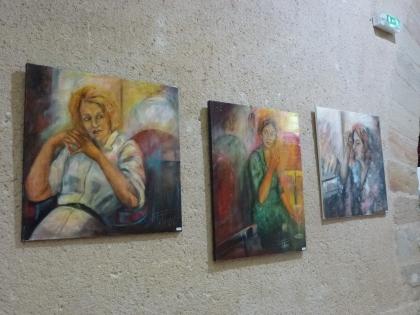 antonella felenzi art contemporain peinture huile portrait femme