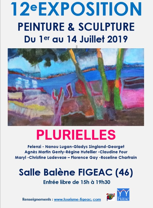 affiche association plurielles figeac peintures sculptures 2019